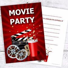 Movie Party Birthday Invitations - Kids Cinema Invites - A6 Postcards (Pack 10)