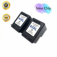 New Chip 2 Black 63 XL Ink Cartridge For HP OfficeJet 5255 5258 3830 3831