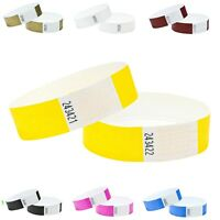 """Tyvek Wristbands, Security, ID, Party, Events,Sporting Events tags 100 PLAIN 1"""""""