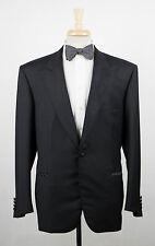 New. BRIONI Quirinale Black Wool Peak Lapels Tuxedo Suit Size 56/46 R $6895