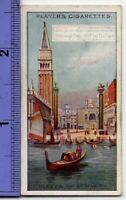 Piazza Of St. Marks Square Venice Italy 90+ Y/O Ad Trade Card