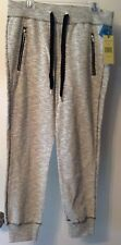 NWT Womens GREEN TEA Ivory Textured Active Jogger Sweat Pants Small MSRP$45