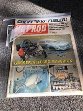 HOT ROD MAGAZINE JANUARY 1974 GASSER/ALTERED MAVERICK..CHEVY V-16 FUELER