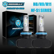 H11/H9/H8 2100W Fanless LED Headlight Conversion Lamp 315000LM Fog Bulbs 6500K