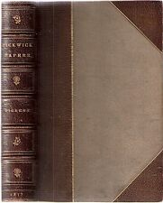 The Pickwick Papers by CHARLES DICKENS ilst Seymour & Phiz 1st bk/fm 1857 CLEAN