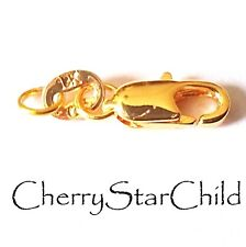 18k gf yellow gold filled hallmarked lobster clasp bracelet necklace