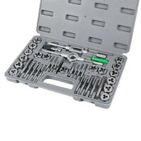 40pc Professional Tap and Die Set Metric M3 to M12 Set In Case Steel Thread Tool