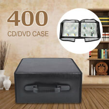 400 CD DVD Disc Holder Bluray Album Storage Carrying Case Wallet Carry Bag Black