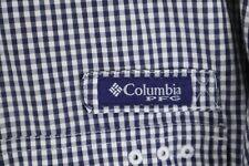 Columbia PFG Mens XL Blue White Check Super Bonehead SS Button up Shirt