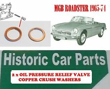 Oil Pressure Relief Valve Copper Crush Washer for MGB GT & Roadster 1798 1964-74