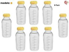 MEDELA BREAST MILK FEEDING COLLECTION STORAGE BOTTLE WITH LID 8 oz/ 240 ml x8