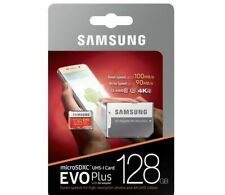 SAMSUNG EVO Plus Micro SD 128GB Class10 U3 Flash Memory Card w/SD Adapter