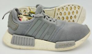 Adidas NMD R1 Running Cotton Trainers Grey/White BY1913 UK4.5/US6/EU38
