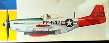 """Vintage (1967) HAWK Kit 208-200, """"Chrome-Plated"""" P-51 """"MUSTANG"""", 100% Complete"""