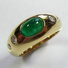 468 - Exquisiter Ring - Gelbgold 750 - Smaragd und Brillanten --- 1943/17