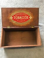 Vintage Wood  box manufactures of tobacco superior