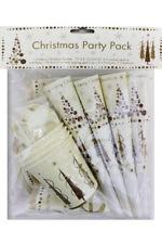 Decoración y menaje de papel de navidad en color principal multicolor para mesas de fiesta