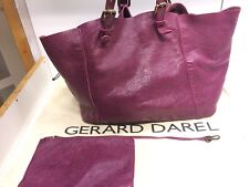 TBE - Sac Gerard Darel Cabas Simple bag  En Cuir Prune Violet