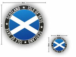 2x ISLE OF SKYE SCOTLAND Flag round Vinyl Stickers Car Van Camper Decal Sticker