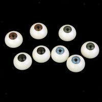 4 Pairs Acrylic Lifelike Eyeballs Doll Eyes Halloween Props Mask Skull 25mm