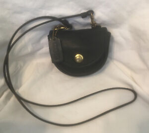 Vintage Coach Black Mini Belt Bag With Crossbody Strap EUC