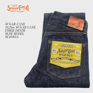 NEW Sugar Cane Co. 16.25oz Fibre New Slim Tapered Selvedge Denim - Made in Japan