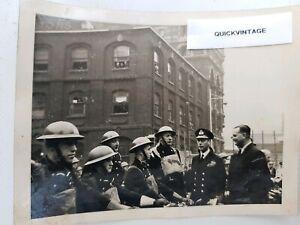 WW2 London Blitz Real Original Photograph King George VI  Visits Fire Brigade
