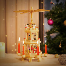 Weihnachtspyramide Tischpyramide Erzgebirge Holz 3-stöckig Weihnachten Deko