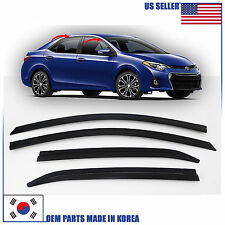 SUPER SMOKED DOOR WINDOW VENT VISOR SUN DEFLECTOR TOYOTA COROLLA 2015-2018