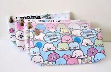 Mamegoma teeny tiny seals cute kawaii kitsch pencil case pen bag make up bag
