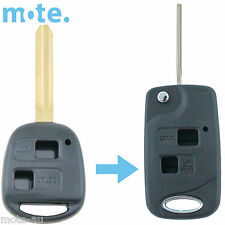 Toyota Prado RAV4 Echo Corolla Remote Car Flip Key Blank 2 Button Shell/Case