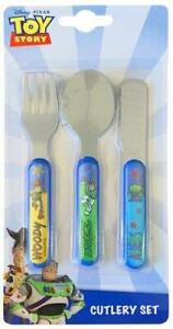Toy Story Play 3 Piece Metal Cutlery Set - Re-usable - Woody-Buzz-Aliens