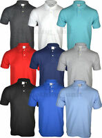 P3 Short Sleeve Plain Polo Shirt Top Casual Cotton Mix S M L XL XXL