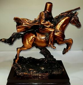 Ned Kelly on Horse 25cm high x 30wide Matalic Copper Colour