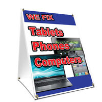 A-frame Sidewalk Sign We Fix Tablets Phones Computers Double Sided