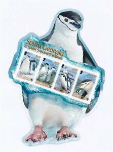 D202518 WWF Penguins MNH Sheetlet South Georgia & South Sandwich Islands