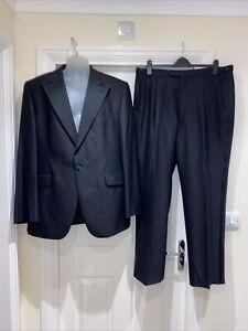 Men's DAKS LONDON TUXEDO JACKET Size L 46 Trousers W38 L32 Cruise