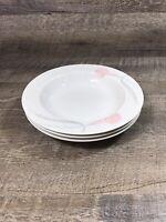 Mikasa SERENADE PINK Calla Lily Rimmed Soup Salad Bowls LDB10 Lot of 3