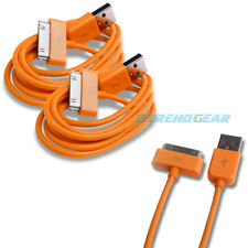 2X 10FT USB TO 30PIN ORANGE CABLE DATA SYNC CHARGER SAMSUNG GALAXY TAB TABLET 7""