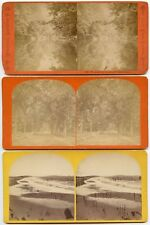 MISC. GROUP OF 8 STEREOVIEWS - FACTORY, FARMING, LANDSCAPE PHOTOS
