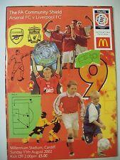 Football Programme. FA Community Shield, 11.08.2002. Arsenal v Liverpool.