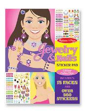 Melissa & Doug Jewelry and Nail  Sticker Pad #4223 New Sealed