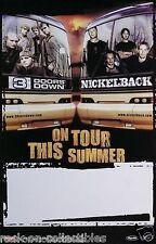 Nickleback 3 Doors Down Original Summer Tour Promo Poster