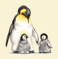 PENGUINS - complete counted cross stitch kit ** CHRISTMAS