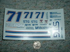 JNJ Hobbies 1/24 1/ 25  Decals #71 STG Micron Dave Marcis  CCC