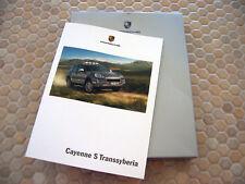 PORSCHE OFFICIAL CAYENNE S TRANSSYBERIA BOXED BROCHURE 2009 USA EDITION
