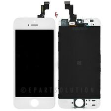 iPhone 5S White Front LCD Display Touch Sreen Digitizer Mid Frame Assembly Part