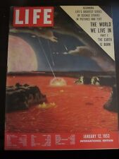 Life Magazine World We Live In Earth Born International Edition December 1953