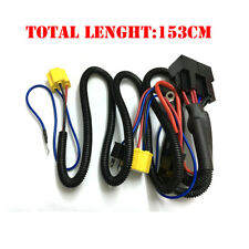 2-Headlight H4 9003 Headlamp Light Bulb Socket Plugs Relay Wiring Harness Kit