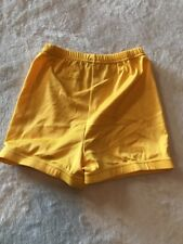 Alleson Women's Yellow Cheerleading Shorts, Size Small